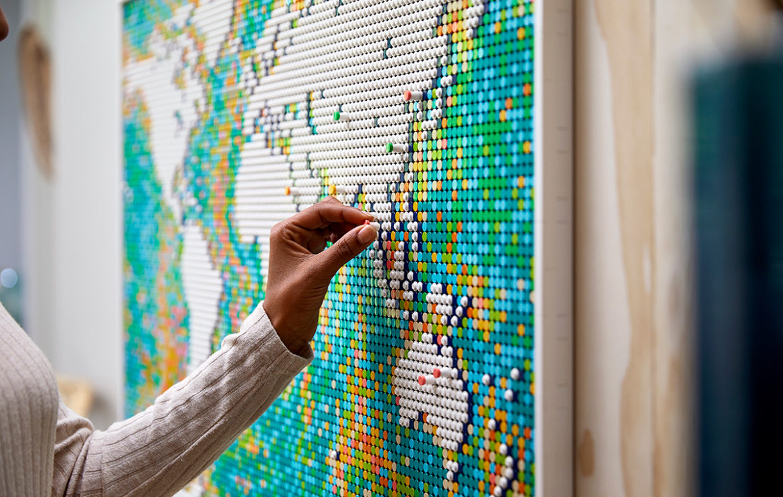 LEGO Wereldkaart is de grootste bouwset ooit