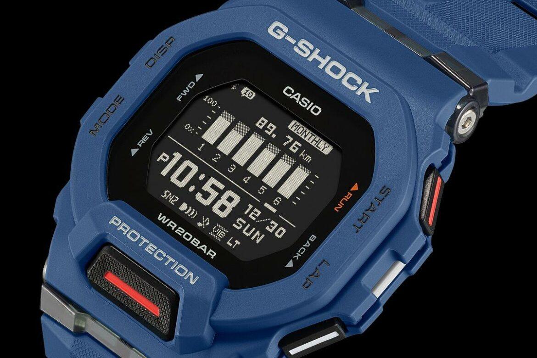 Casio G-Shock GBD-200 blauw zijkant