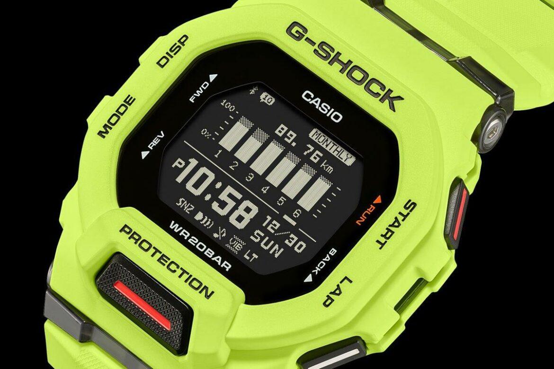Casio G-Shock GBD-200 lime groen zijkant