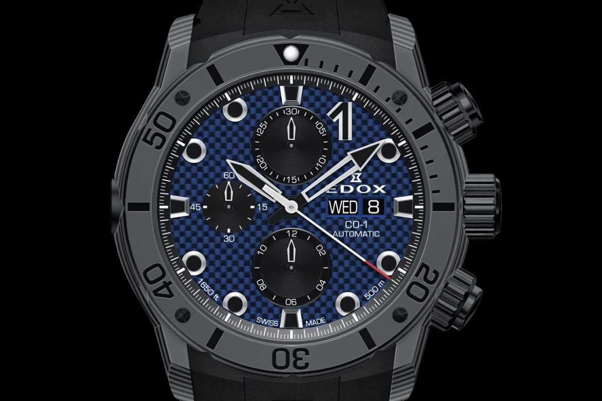 Edox CO-1 Carbon Chronograph Automatic soldier