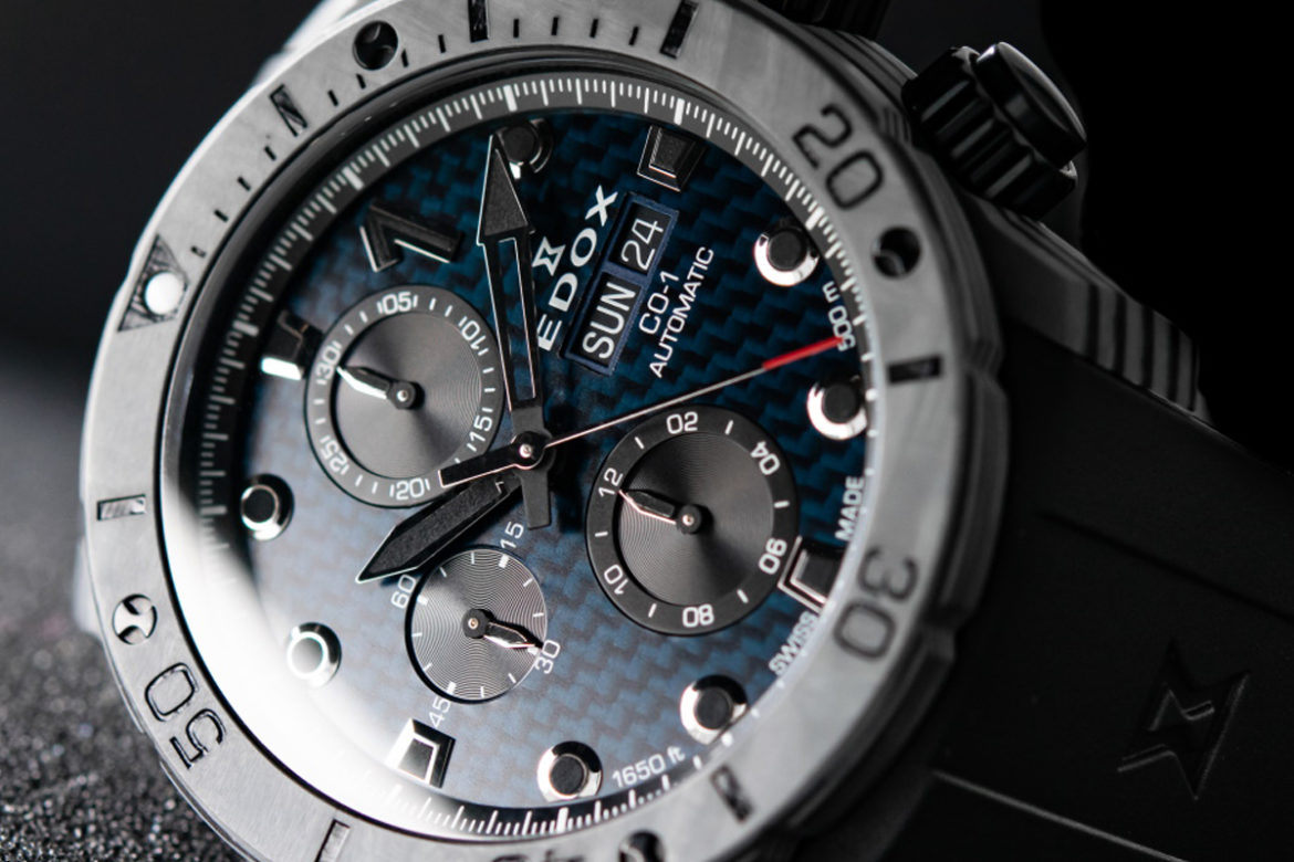 Edox CO-1 Carbon Chronograph Automatic front