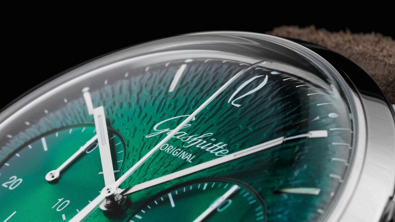 Glashütte Original Sixties Chronograph Annual Edition 2021 bolle wijzerplaat
