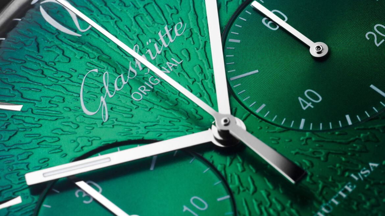 Glashütte Original Sixties Chronograph Annual Edition 2021 wijzerplaat