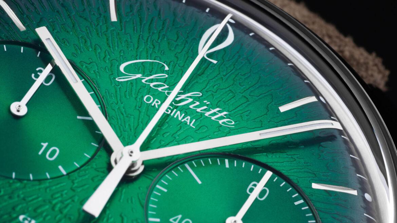 Glashütte Original Sixties Chronograph Annual Edition 2021 wijzerplaat 2