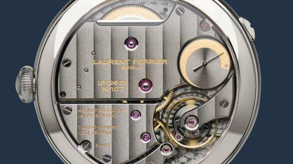 Laurent Ferrier Ecole Annual Calendar Navy uurwerk detail