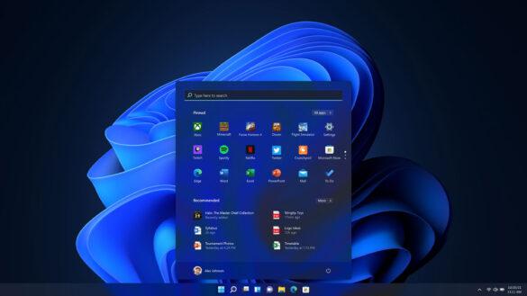 Windows 11 startscherm donkere modus