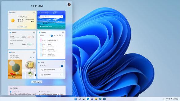 Windows 11 widgets