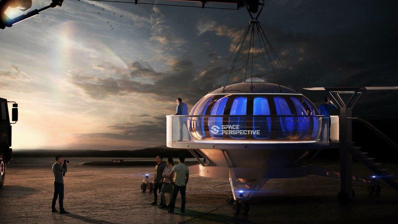 ballonvaart naar de ruimte