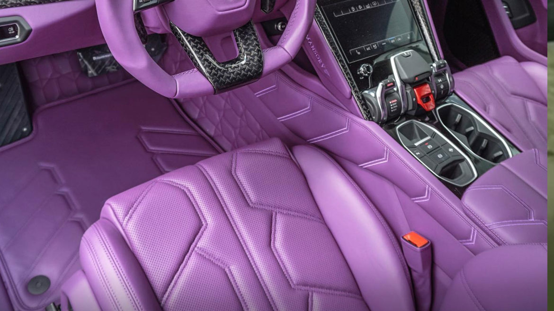Paars interieur in je Lamborghini Urus