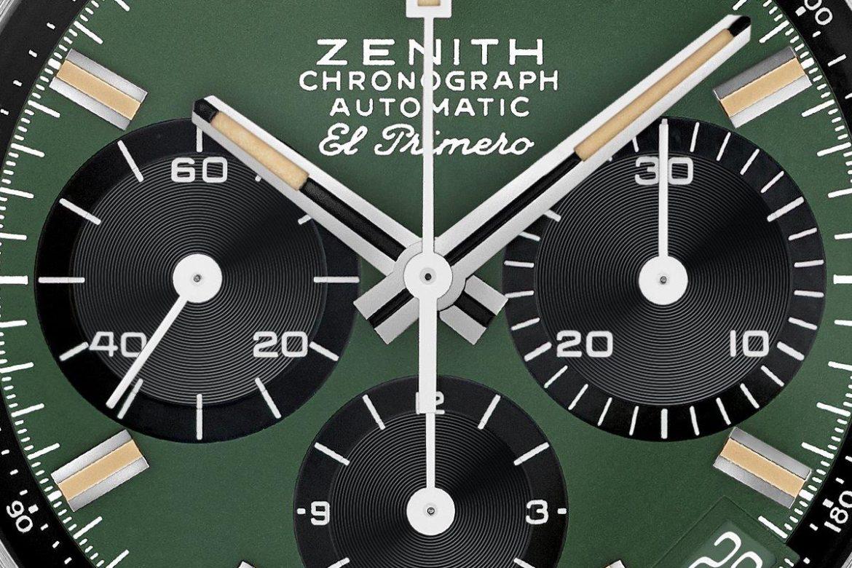 Zenith Chronomaster Revival Safari wijzerplaat