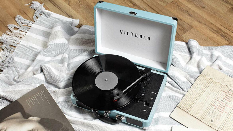 Victrola platenspeler portable