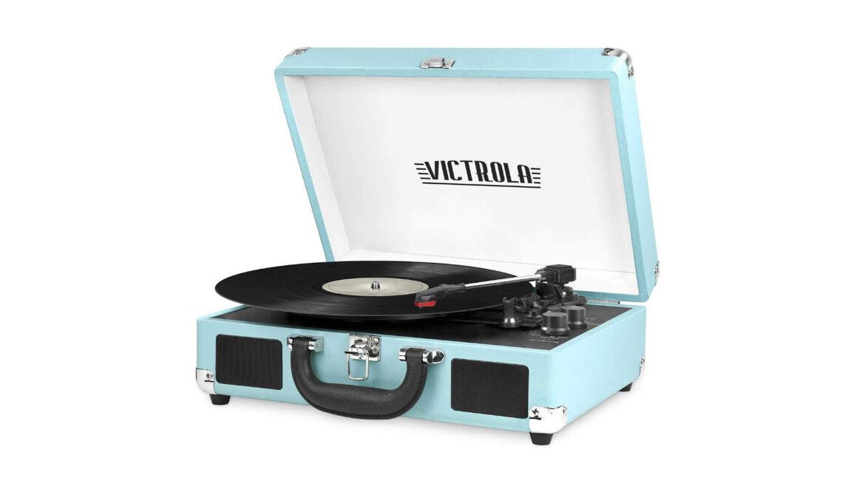 Victrola platenspeler draagbaar