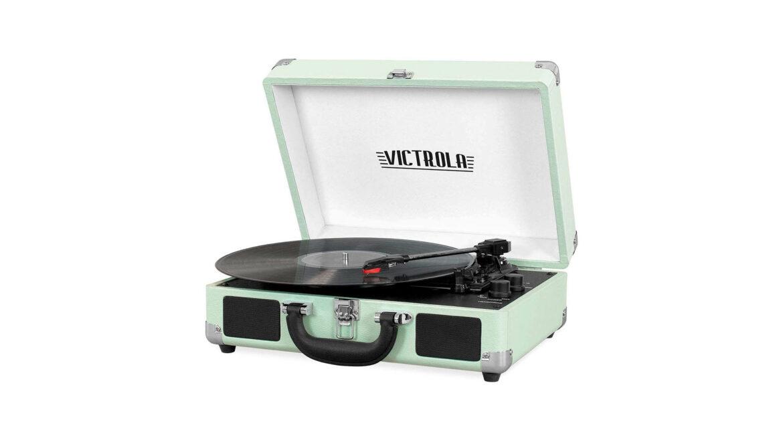 Victrola platenspeler draagbaar groen