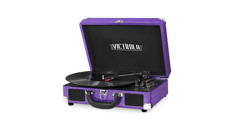 Victrola platenspeler draagbaar paars