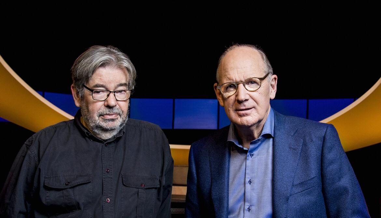 Presentatoren De Slimste Mens: Maarten van Rossum en Philip Freriks