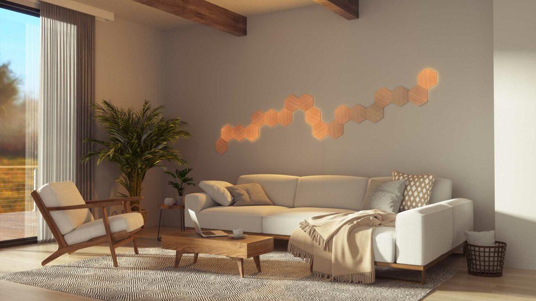 Nanoleaf Elements aan de muur lichtgevend