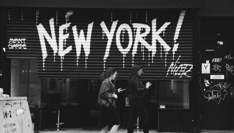 Lege straten in New York door corona