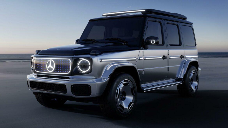 Mercedes EQG concept G-klasse donker