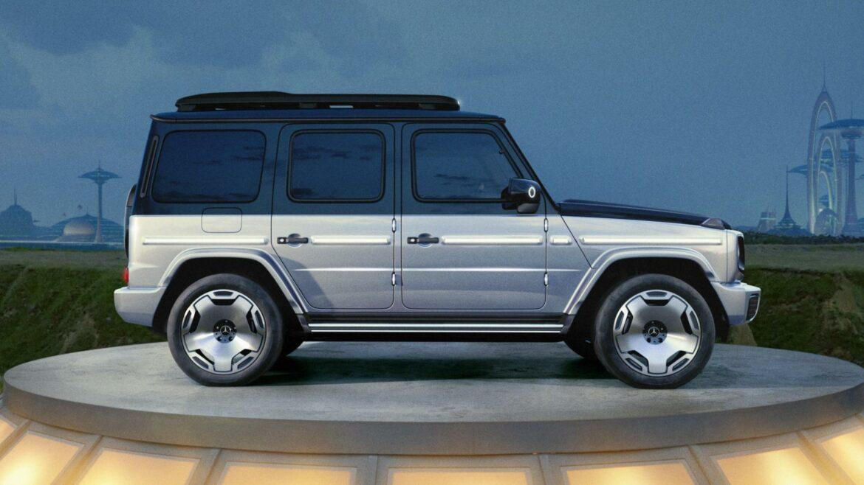 Mercedes EQG concept G-klasse zijkant